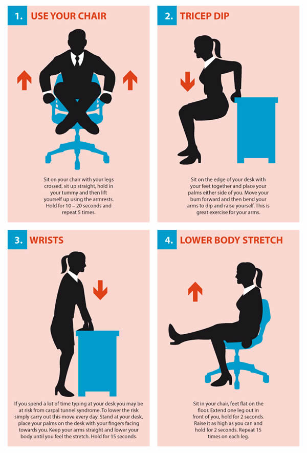 15 Simple Exercises You Can Do At Your Desk Brms